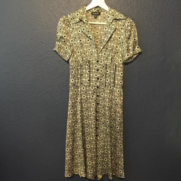 bebe Dresses & Skirts - BEBE VINTAGE  SILK CORSET DRESS